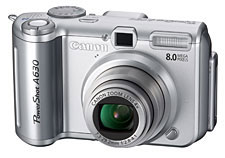 Reviews Canon Powershot A630-Front