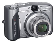 Reviews Canon Powershot A710-Front