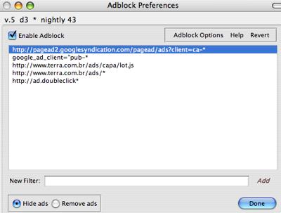 Adblock Preferences
