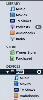 manage ipod manually