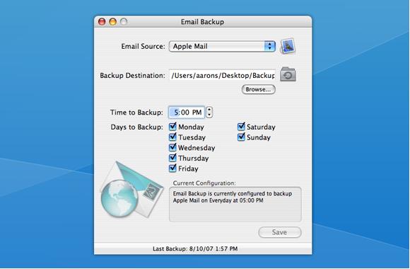 Email backup mac