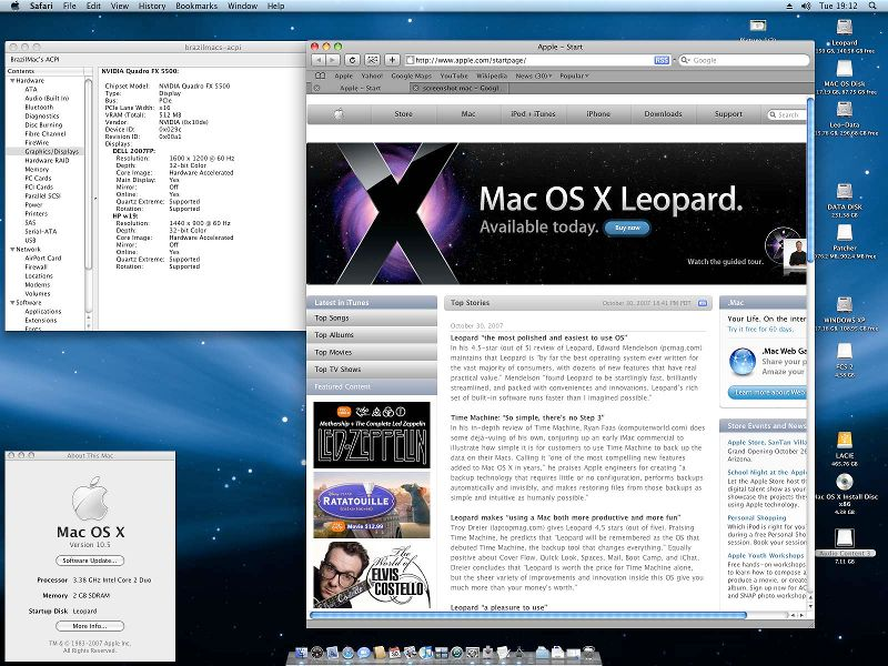 Mac osx leopard no pc