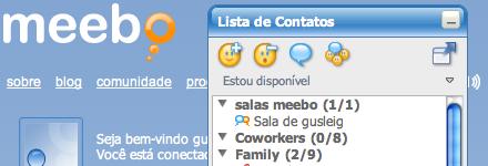 Meebo main chat window