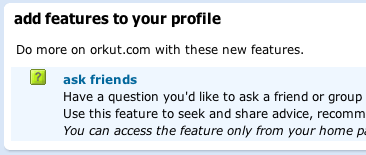 Orkut Add Questions
