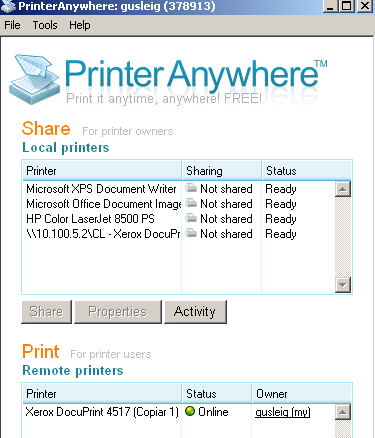printer anywhere
