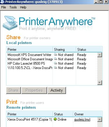 printer anywhere