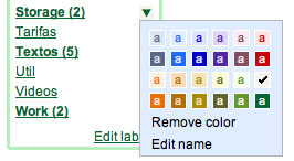 Gmail Label Colors