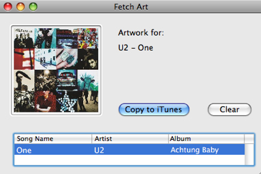 Itunes Fetch Art Work