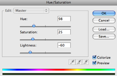 New Adjustment Layer Hue