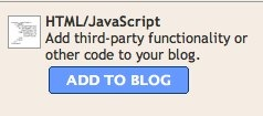 blogger add html javascript element