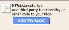 blogger add html javascript element