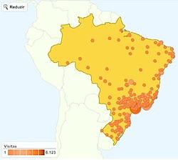 google analytics geo map report