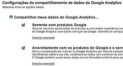 google analytics enable benchmarking sharing