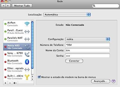 nokia n80 rede internet mac osx leopard