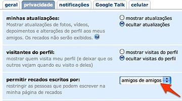 evitar spam no orkut segurança