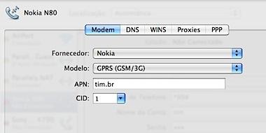 Preferências do nokia n80 internet mac osx leopard