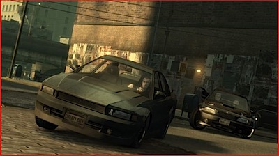 gta 4 screen car