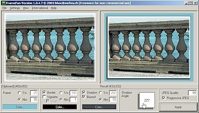 colocar moldura em fotos automaticamente