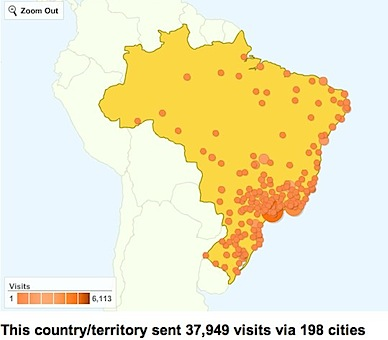 google analytics mapa do brasil