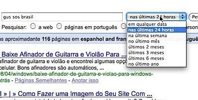 pesquisa google filtro de páginas recentes