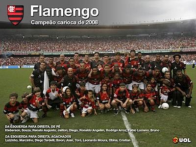 futebol_poster papel de parede do flamengo campeão carioca 2008 uol