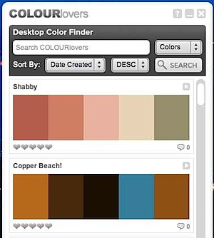 colourlovers Desktop Color Finder
