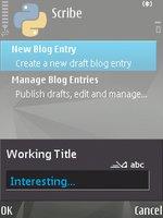 scribe moblogging celular