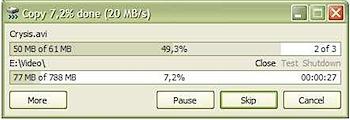 copiar arquivos com barra de progresso com TeraCopy