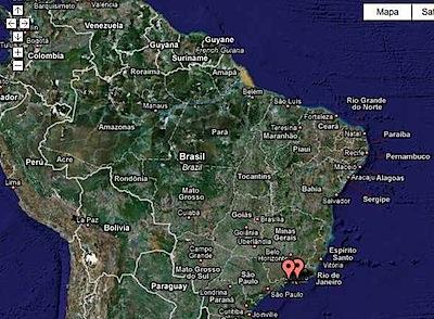 mapa de vistantes no google maps