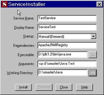 windows service installer