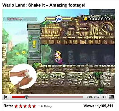 wario land shake it video