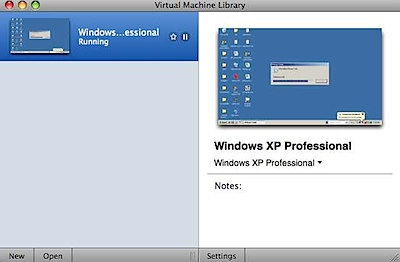 Virtual Machine Library vmware fusion