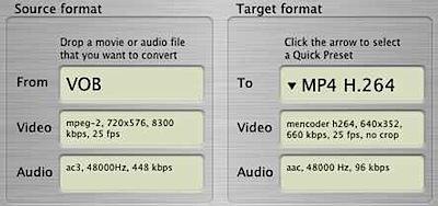 ffmpegX encoder mac
