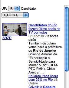 Google – Eleições 2008