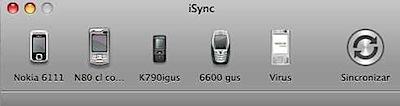 iSync celulares mac