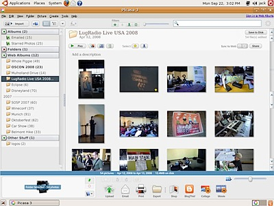 Picasa-linux screenshot