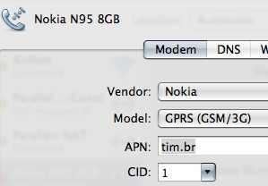nokia modem config n95
