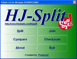 hjsplit screen file splitter