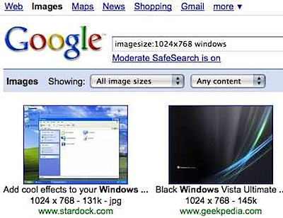 google imagesize search