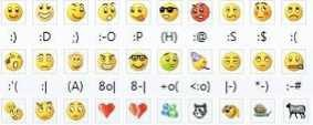 messenger emoticons