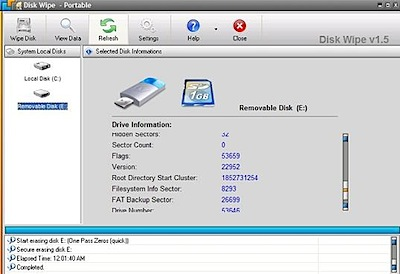 disk wipe delete files securely