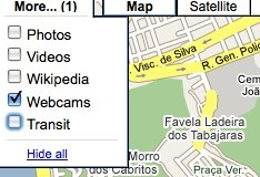Google Maps more webcams