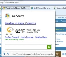 weather from live search