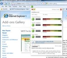 web of trust for Internet Explorer