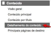 Detalhamento do conteúdo - Google Analytics