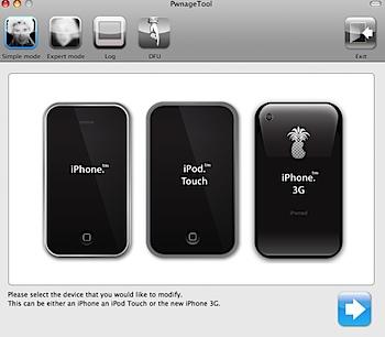 PwnageTool choose iphone model
