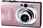 Câmera Digital 8MP SD1100IS Canon Rosa