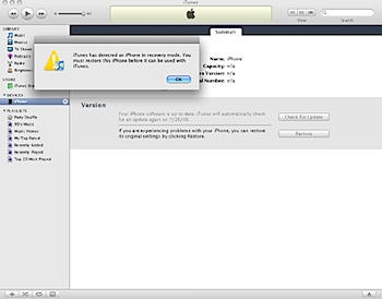 itunes recovery iphone