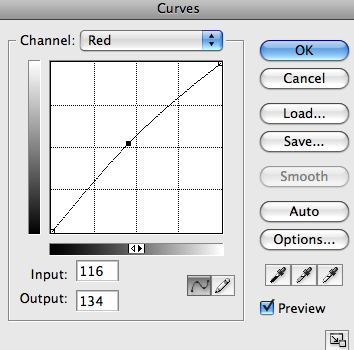 photoshop Curves red