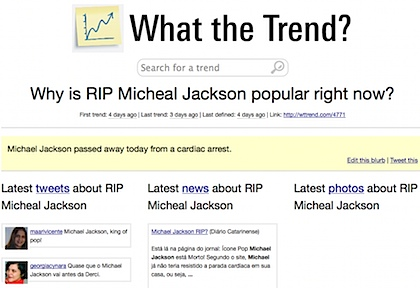 Why is RIP Micheal Jackson trending